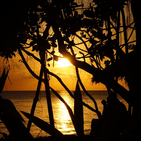 Sonnenaufgang auf den Malediven