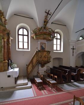 Kanzel in der  Kirche von Jeruzalem
