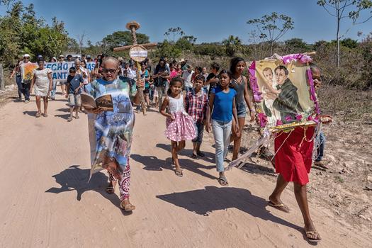 Prozesion in der Gemeinde Correntina, bei Bom Jesus da Lapa