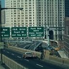 VERKEHRSKNOTENPUNKT IN MANHATTAN - NEW YORK VOR CA. 50 JAHREN