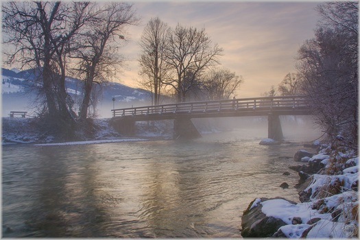 The bridge in the fog