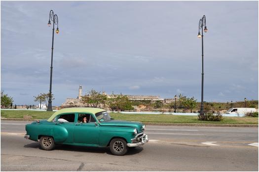 Kuba, La Habana, Malecón, Castillo