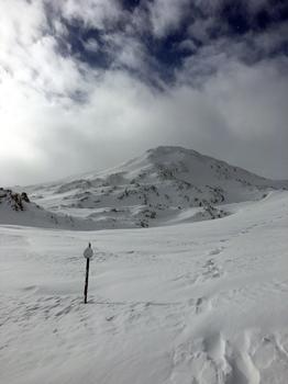 Verschneiter Skitrail