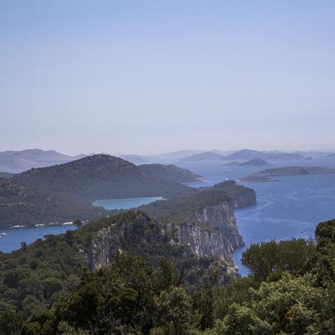 kroatische Inselgruppen vom Aussichtspunkt