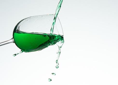 Grün ins Glas