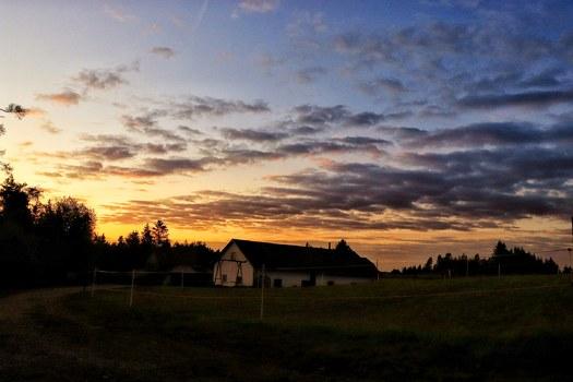 Schöner Sonnenaufgang in der liebenau