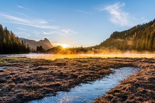 Sonnenaufgang am Spechtensee