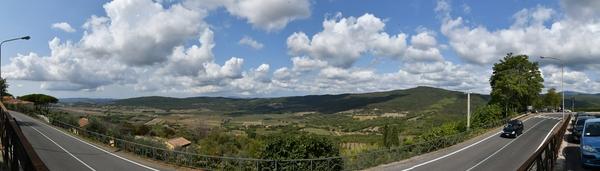Hügeln am Rand der Maremma
