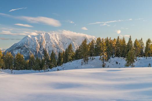 Winterlicher Nachmittag im Salzkammergut