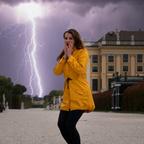 Ende des Portrait Fotoshooting in Schönbrunn