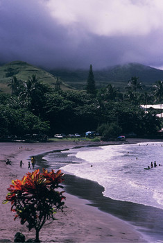 DIE HANA-BUCHT AUF DER INSEL MAUI -  HAWAII -VOR CA. 50 JAHREN