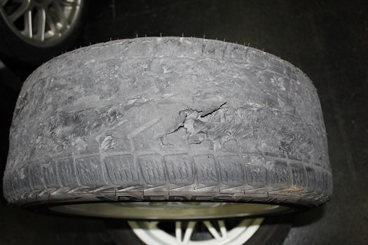 Reifen nach dem Driften
