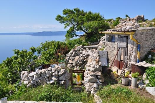 Garten - hoch über dem Meer...