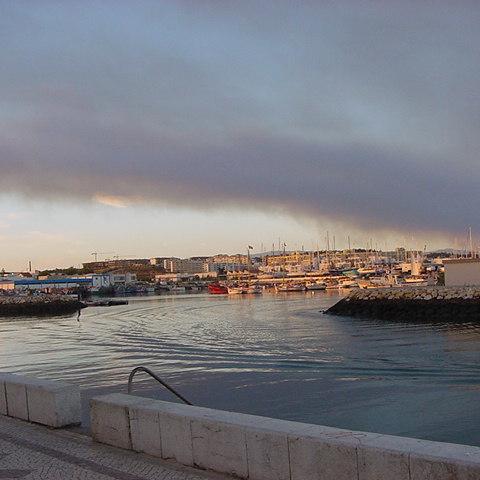 Rauchschwaden über Lagos