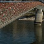 Liebesschlösser Brücke Salzburg
