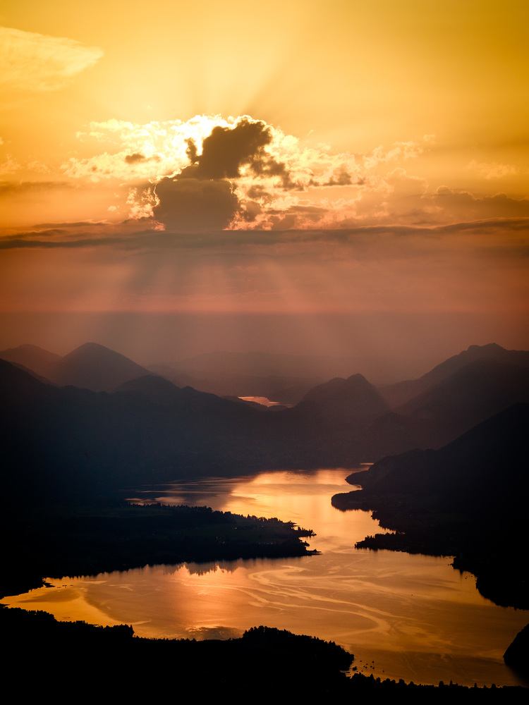 Wolfgangsee bei Sonnenuntergang