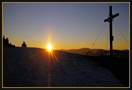 Sonnenaufgang am Hochstadelberg