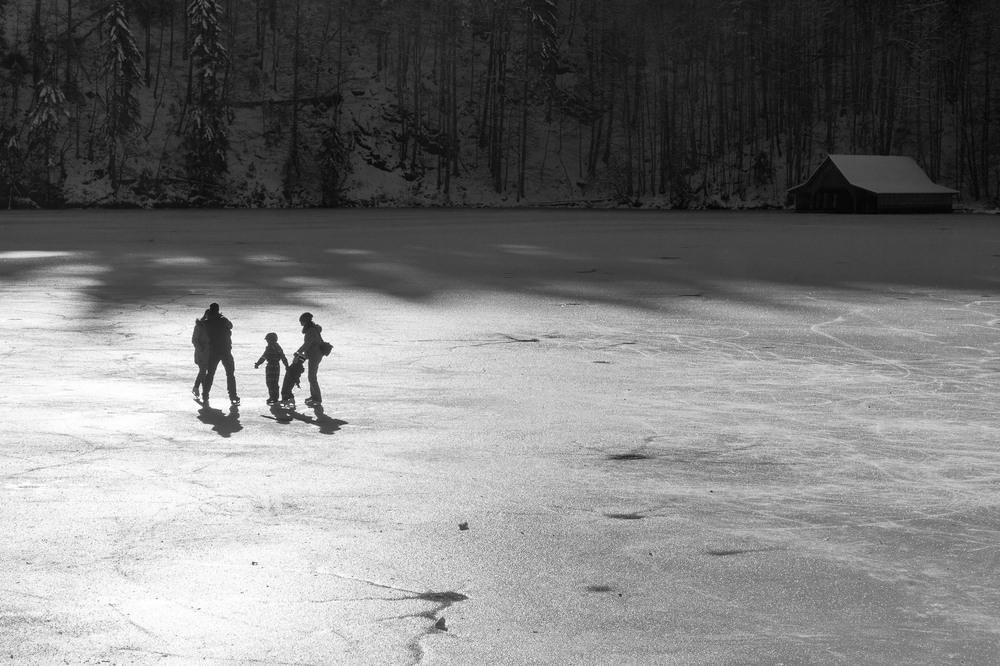 Auf dem Eis .....