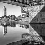 Wien Donauinsel Spiegelung