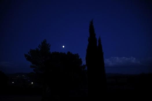 Blaue Stunde über der Maremma