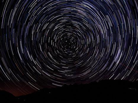 58min belichtet Sterne über dem Dachstein