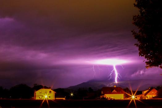 Gewitter über Neunkirchen
