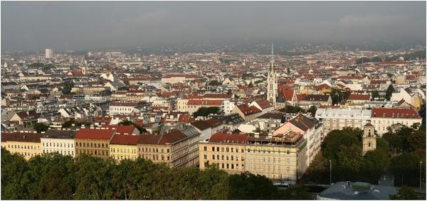 Wien, Blick gegen Westen