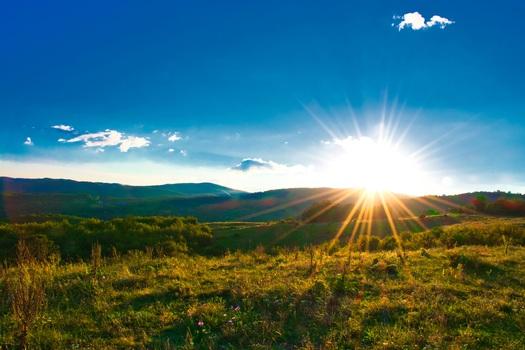 Ein perfekter Sonnenuntergang