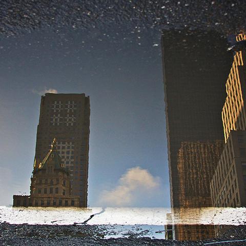 NYC Pfütze