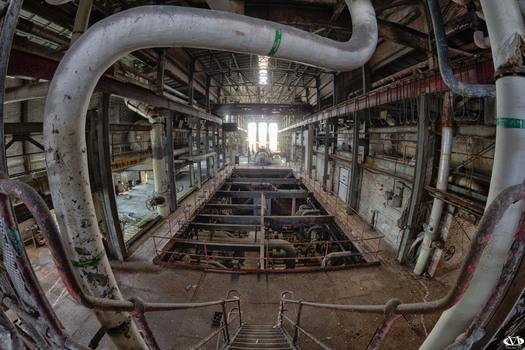 Ein verlassenes Kraftwerk in England