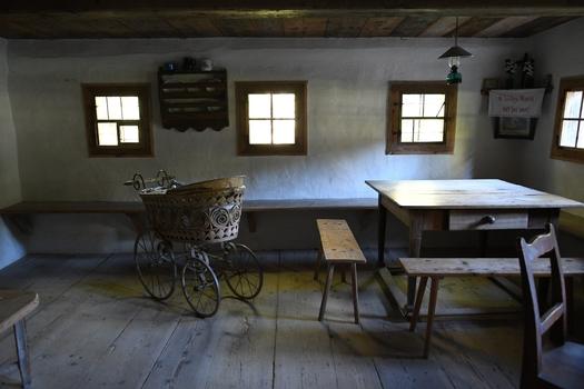 Wohnraum, Hiertlhaus (Freilichtmuseum Großgmain)