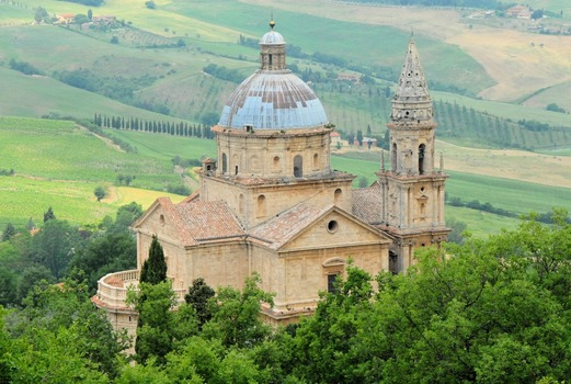 Die Basilika von Montepuciano