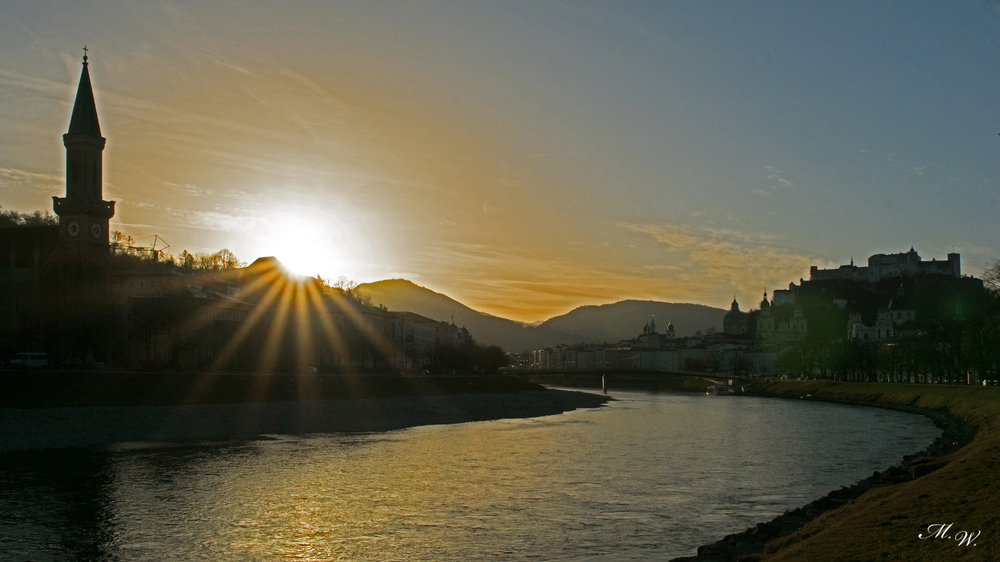 Sonnenaufgang Salzburg