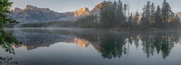 Herbstmorgen am Almsee