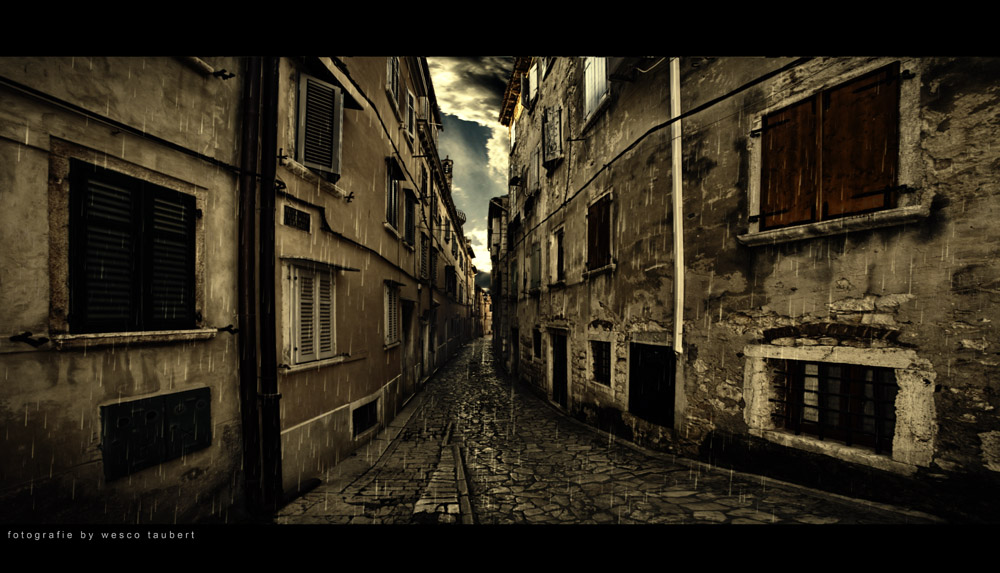 Kroatien im Regen