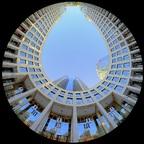 Tower 185 im Fisheye