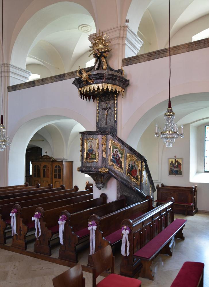 Kanzel der Kirche St. Anna am Aigen
