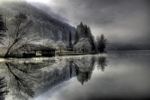 Klopeinersee im Winter