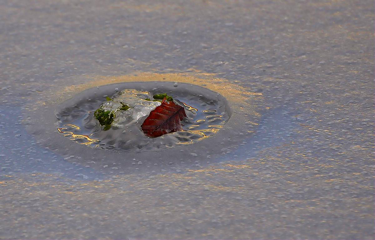 Krater im Eiss