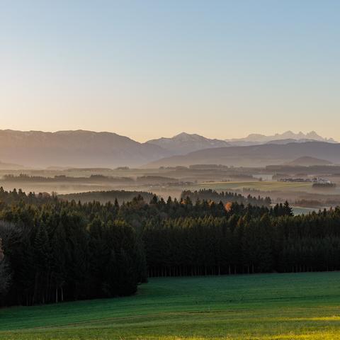 Sonnenaufgang über dem Attergau