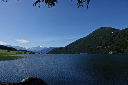 der Haidersee in Südtirol.....