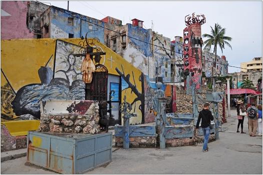 Kuba, La Habana, Callejón de Hamel