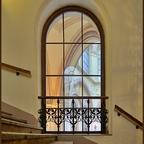 Fenster in einem Stiegenhaus