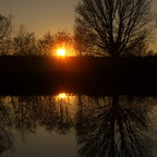 Sonnenuntergang am Teich