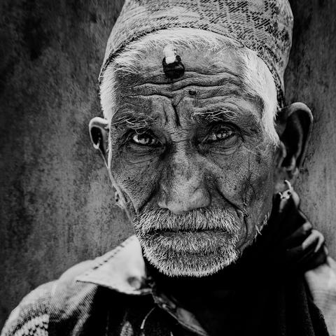 Bettler in Kathmandu