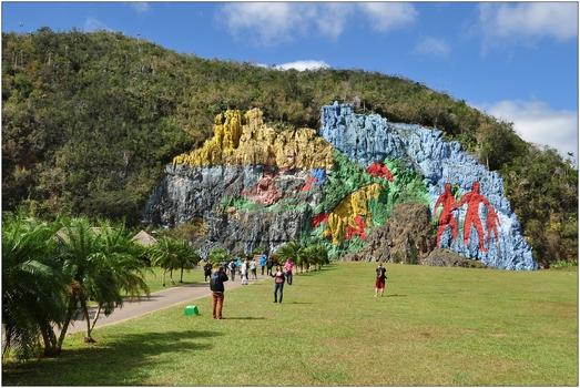 Kuba, Valle de Viñales, Mural de la Prehistoria