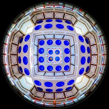 Kirche am Schöpfwerk, Decke im Fisheye