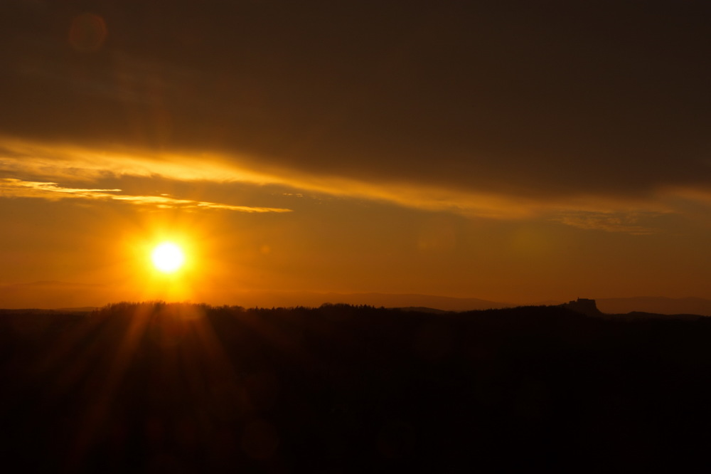Sonnenuntergang Riegersburg