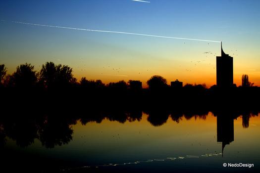 Skyline Wien @ Sonnenuntergang