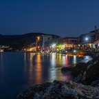 Nachtszene in Messonghi / Korfu